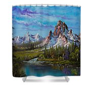 Majestic Morning Shower Curtain