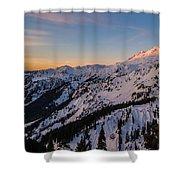 Majestic Mount Baker Sunrise Light Shower Curtain