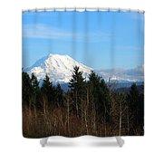 Majestic Mount Rainier Shower Curtain