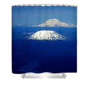 Majestic Northwest Mountains And The Mighty Columbia River Shower Curtain
