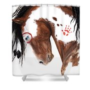Majestic Pinto Horse 129 Shower Curtain