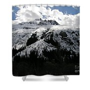 Majestic Skagway Mountaintop Shower Curtain