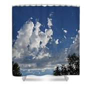 Majestic Sky - Building Cumulus Shower Curtain