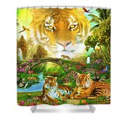 Majestic Tiger Grotto Shower Curtain