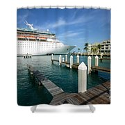 Majesty Of The Seas Docked At Key West Florida Shower Curtain