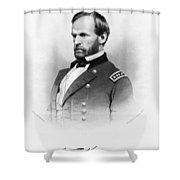 Major General William T Sherman Shower Curtain