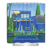 Majorelle Gardens, Marrakech Shower Curtain