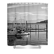 Makah Tribal Trawlers  Shower Curtain