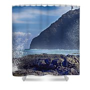 Makapuu Point Lighthouse- Oahu Hawaii V2 Shower Curtain