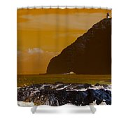 Makapuu Point Lighthouse- Oahu Hawaii V4 Shower Curtain