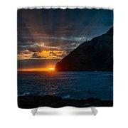 Makapuu Sunrise Shower Curtain