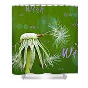Make A Wish Card Shower Curtain