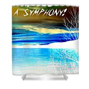 Make Life A Symphony Shower Curtain
