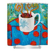 Coffee  By Janelle Dey Shower Curtain