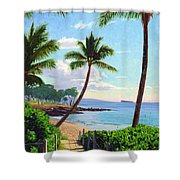 Makena Beach - Maui Shower Curtain