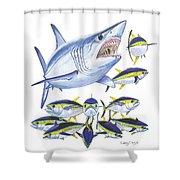 Mako Attack Shower Curtain