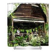 Malay Hut Shower Curtain