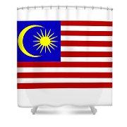 Malaysia Flag Shower Curtain