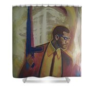 Necessary Means Of Malcolm X Shower Curtain