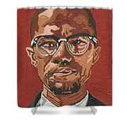 Malcolm X Shower Curtain