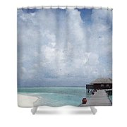 Maldives Shower Curtain