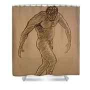 Male Croquis Shower Curtain