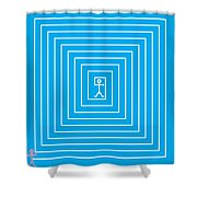 Male Maze Icon Shower Curtain