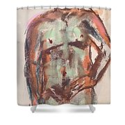 Male Seafoam And Violet Brown Shower Curtain