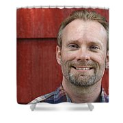 Male Smiling Shower Curtain