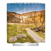 Malham Cove In Malhamdale Shower Curtain