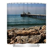 Malibu Pier Shower Curtain