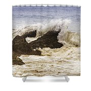 Malibu Waves Shower Curtain