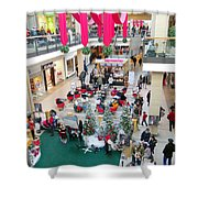 Mall Before Christmas Shower Curtain