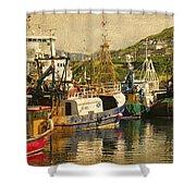 Mallaig Harbourside  Shower Curtain