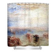 Turner's Approach To Venice Shower Curtain