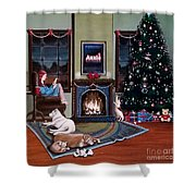 Mallory Christmas Shower Curtain