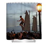 Mallory Square Shower Curtain