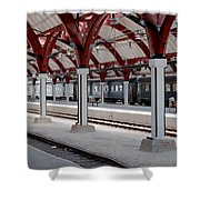 Malmo Train Station Shower Curtain