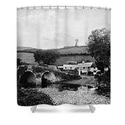 Malmsmead Bridge, C1900 Shower Curtain
