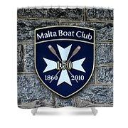 Malta Boat Club Shower Curtain
