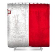 Malta Flag Vintage Distressed Finish Shower Curtain