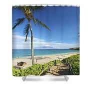 Maluaka Beach Park Shower Curtain