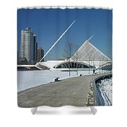 Mam In Winter With Jogger Shower Curtain