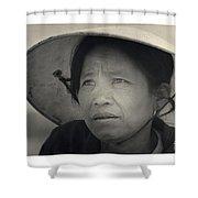 Mama San Pleiku Central Highlands Vietnam 1968 Shower Curtain