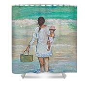 Mama's Beach Day Shower Curtain