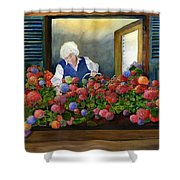 Mama's Window Garden Shower Curtain