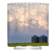 Mammatus Country Landscape Shower Curtain
