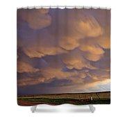 Mammatus Over Flagler 2 Shower Curtain