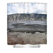 Mammoth Hot Spring Landscape Shower Curtain
