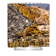 Mammoth Hot Spring Shower Curtain